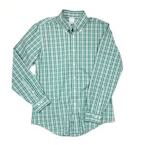 Brooks Brothers Plaid Non-Iron Button Down Shirt M